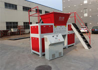 Timber / Rubber Twin Shaft Shredder Synchronous Centripetal Rotating Capacity 2000kg / H